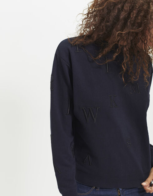 Women's navy sweatshirt