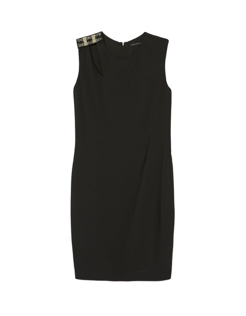 Women's jewel-shoulder dress