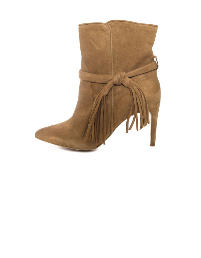 Women's camel ankle boots