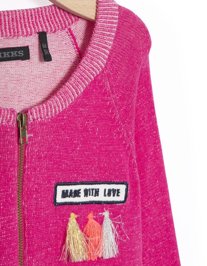 Girls' pink cardigan