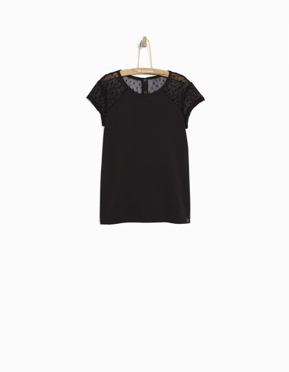 Girls' black T-shirt - IKKS Junior