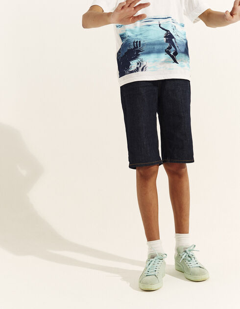 Boys' denim Bermuda shorts