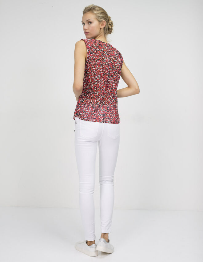 Women's printed voile top