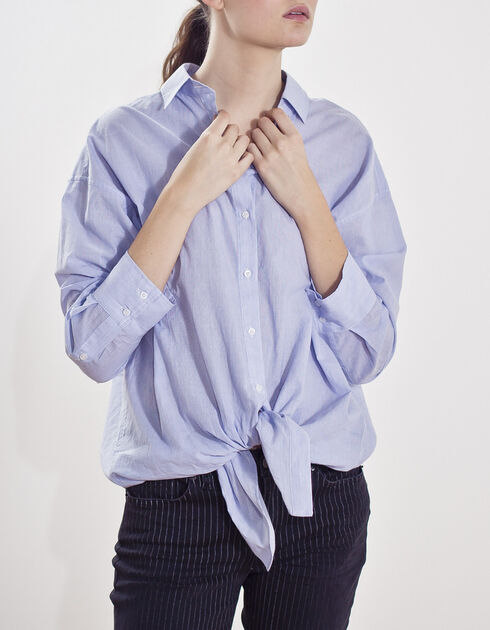 Women's tie-up shirt