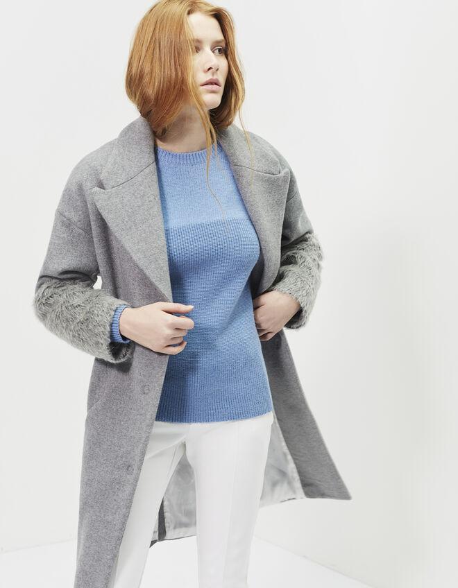 manteau oversize femme ikks mode archive h16 automne hiver. Black Bedroom Furniture Sets. Home Design Ideas