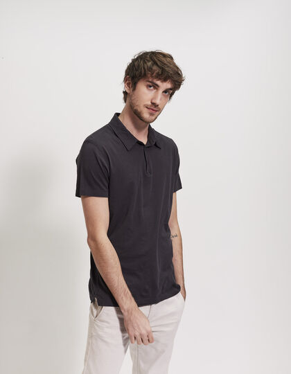 Men's grey polo shirt - IKKS Men