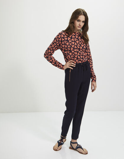 Women's navy blue trousers - I.Code