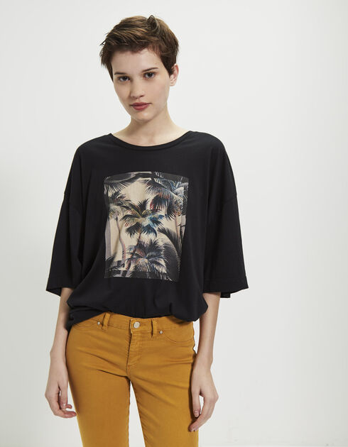 Women's black oversized T-shirt