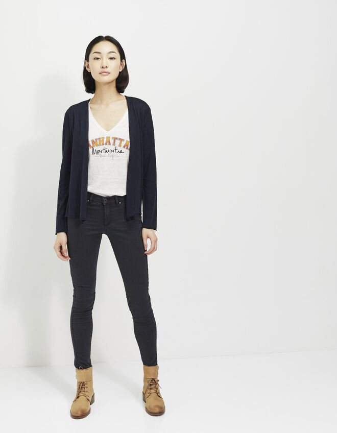 Women's navy cardigan