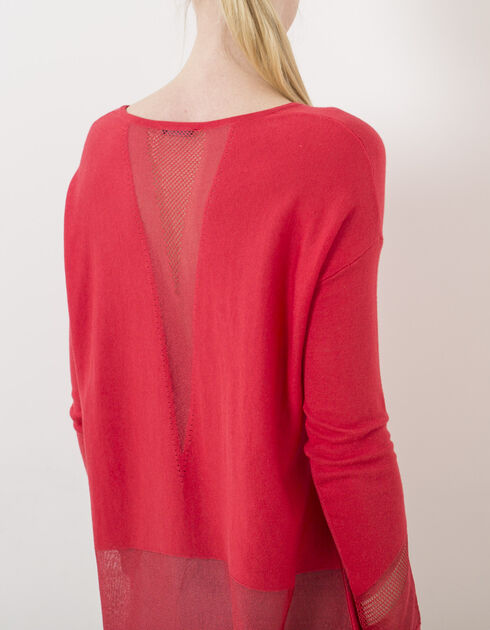 Women's red pullover