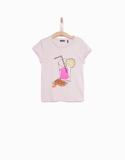 Girls' pink T-shirt - IKKS Junior