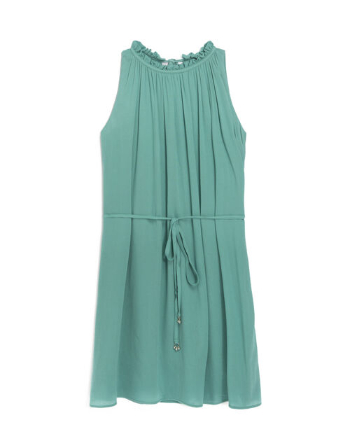 Pleated voile dress