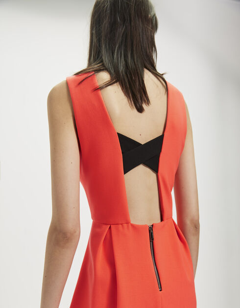 Tailored dress with plunging back