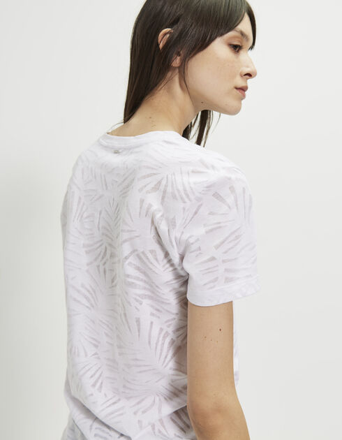 Sheer-effect white T-shirt