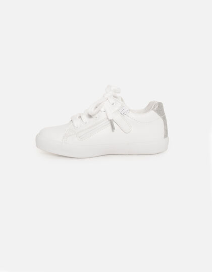 Baskets blanches fille - Junior