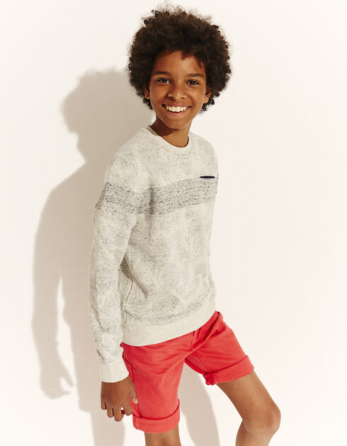 Boys' cotton fleece sweatshirt