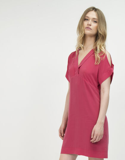 Washed silk dress - IKKS Women