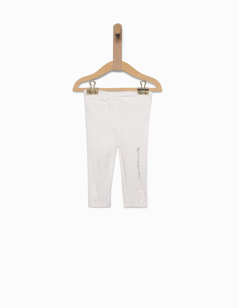 Leggings fille blanc