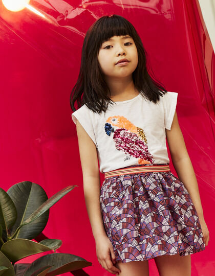 Girls' wax print skirt - IKKS Junior