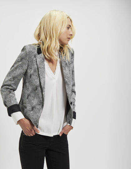 Women's jacquard jacket - IKKS Women