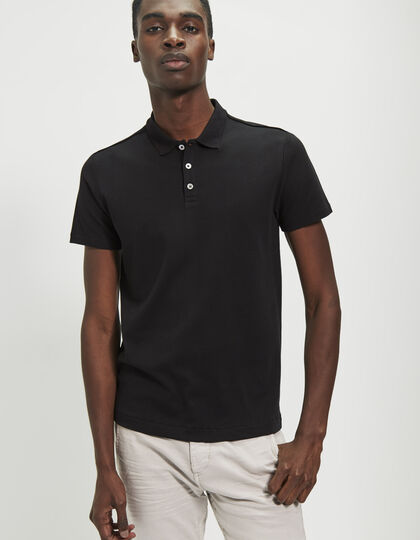 Men's black polo shirt - IKKS Men