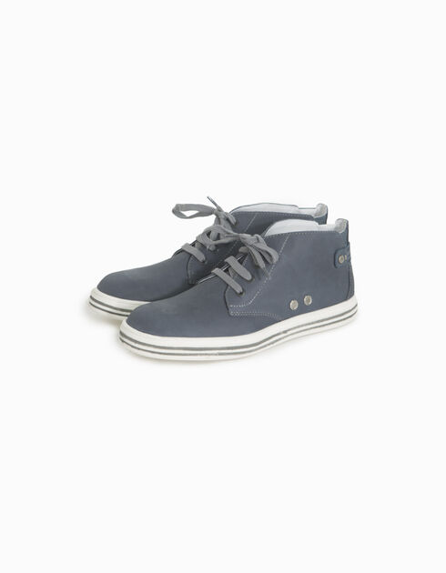 Boys' leather derbies
