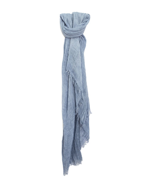 Women's blue scarf