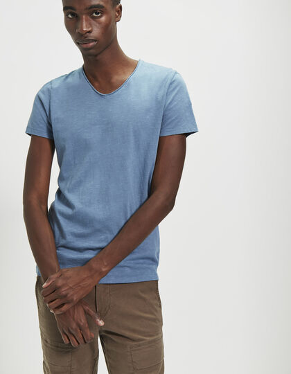 Men's blue T-shirt - IKKS Men