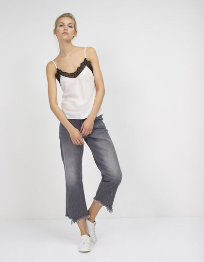 Embroidered jeans - IKKS Women