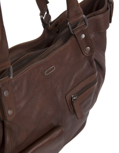 Women's leather tote bag