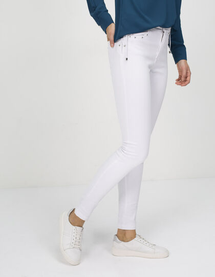 Women's slim jeans with lacing - IKKS Women