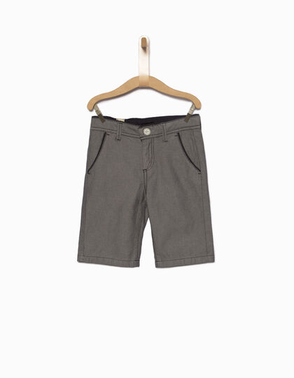 Navy blue chino Bermuda shorts - IKKS Junior