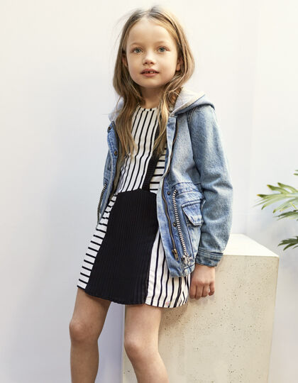 Girls' striped dress - IKKS Junior