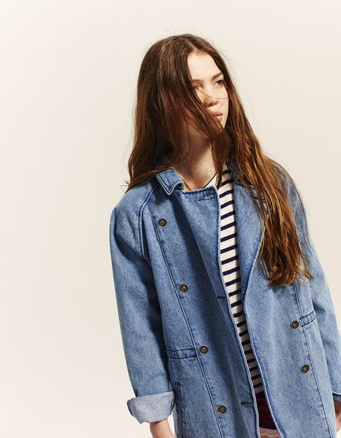Girls' denim parka