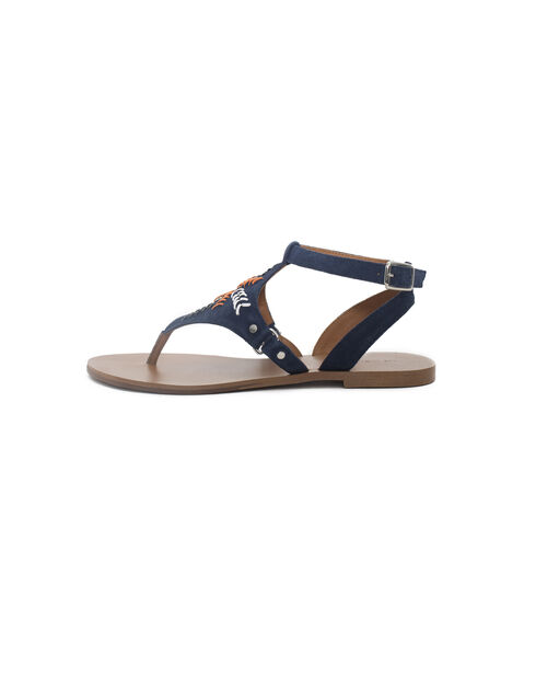 Women's blue toe posts