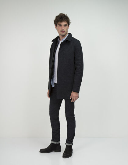 Men's navy trench coat - IKKS Men