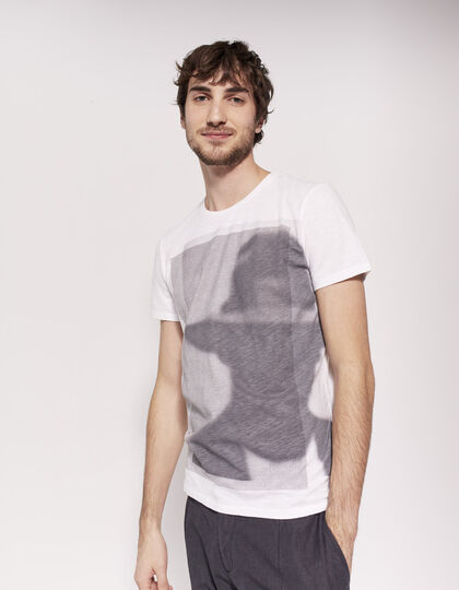 Men's white T-shirt - IKKS Men