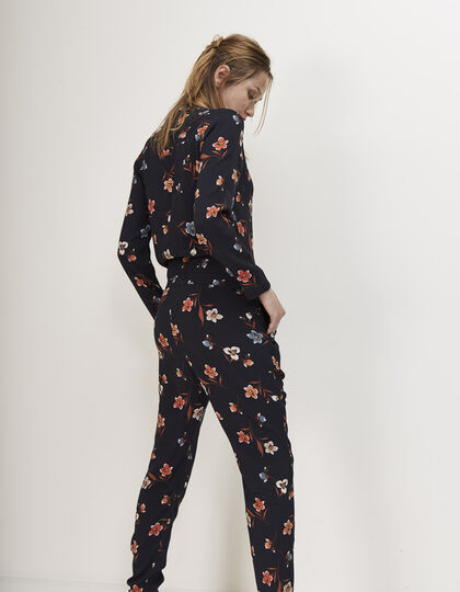 Women's printed jumpsuit - I.Code