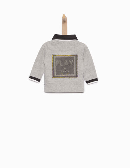 Baby boys' grey polo - IKKS Junior