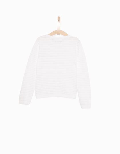 Girls' white cardigan - IKKS Junior