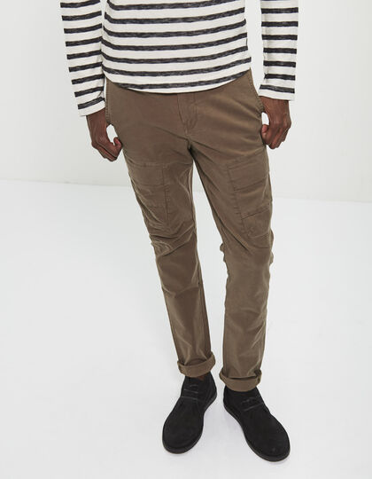 Men's khaki combat trousers - IKKS Men