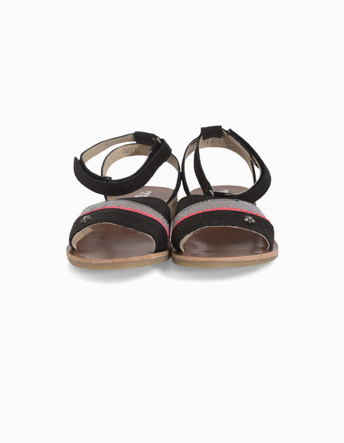 Girls' leather sandals