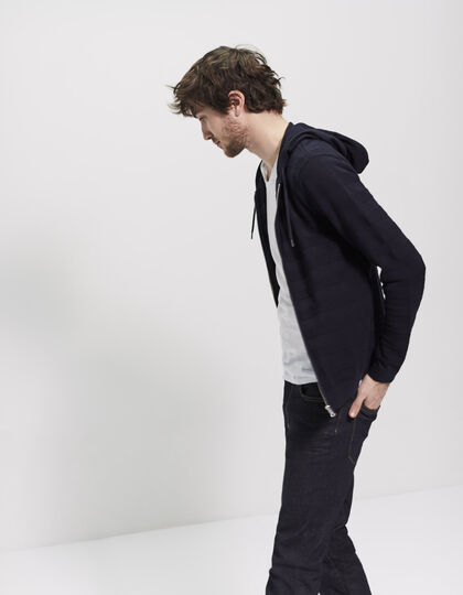 Men's hooded cardigan - IKKS Men