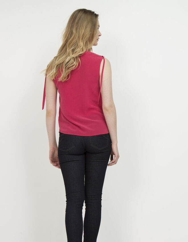 Women's V-neck silk top
