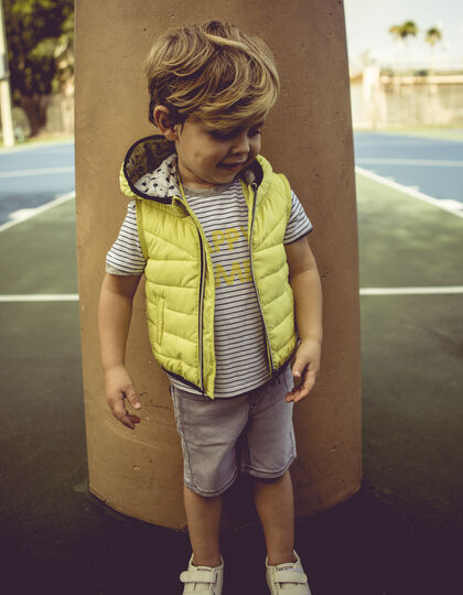 Baby boys' yellow padded jacket - IKKS Junior