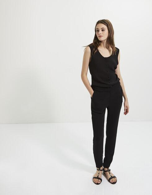 Pantalon femme jusqu 86 v tements femme soldes deuxi me d marque - Combinaison noire chic ...