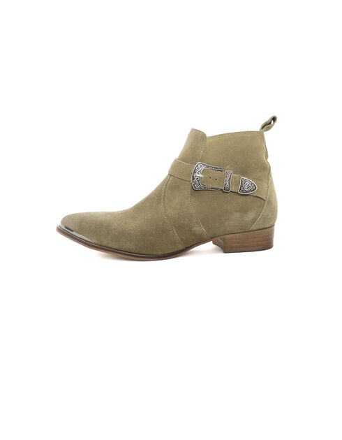 Boots beige mujer