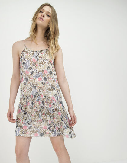 Floral voile dress with straps - IKKS Women