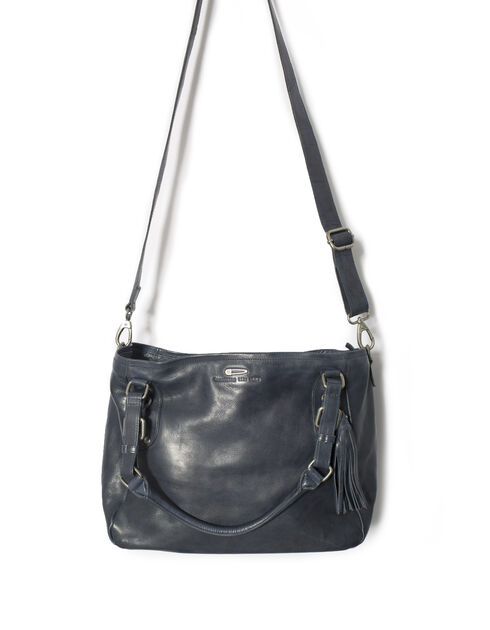 Women's zipped tote bag