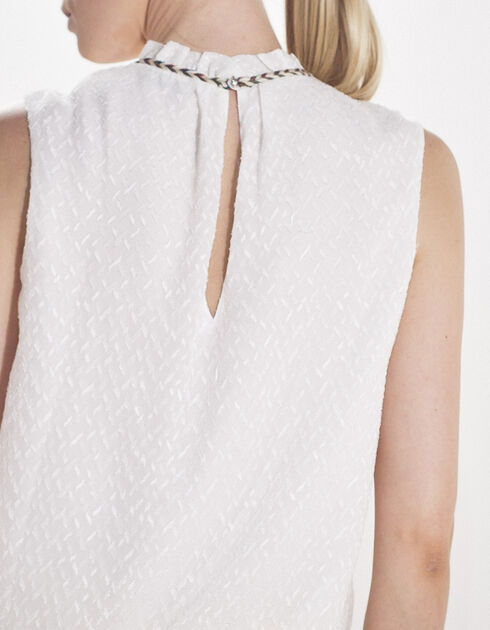 Women's white voile top